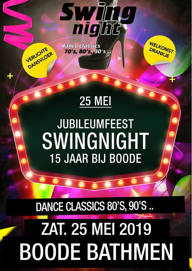 Swingnight boode Jubileum Dj 2019