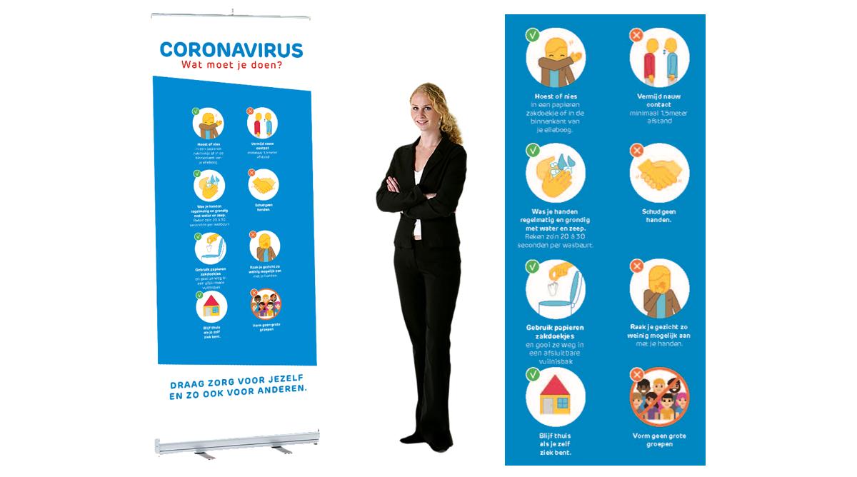 Corona info banner voor horeca en events