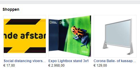facebook Corona Shop